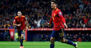 España goleó a Rumanía
