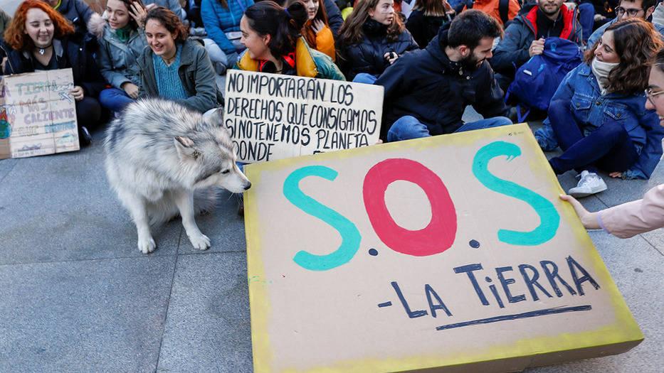 La sociedad civil madrileña ha exigido luchar contra el cambio climático que la COP25 debatirá desde este lunes