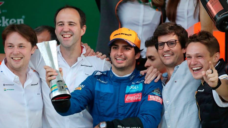 Carlos Sainz es el cuarto español en la historia en conseguir un podio en F1