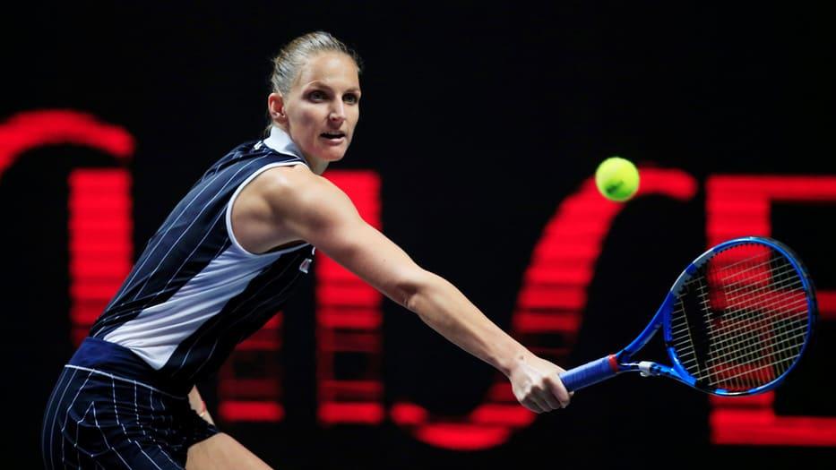 Karolina Pliskova se ganó el último lugar entre las cuatro mejores