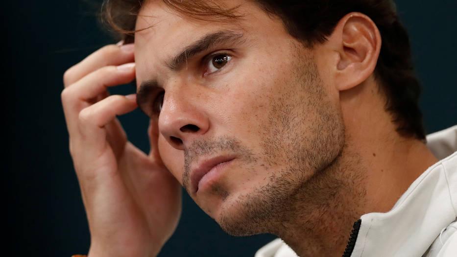 Rafael Nadal durante su conferencia de prensa
