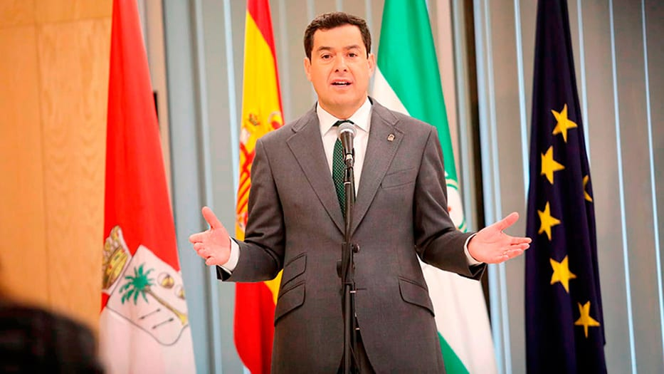 Juanma Moreno, presidente de la Junta de Andalucía, compareció ante la prensa y rechazó la medida del Gobierno central. Cortesía: Junta de Andalucía