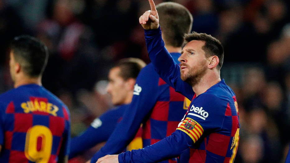 Lio Messi regaló un 'hat-trick' a la afición culé