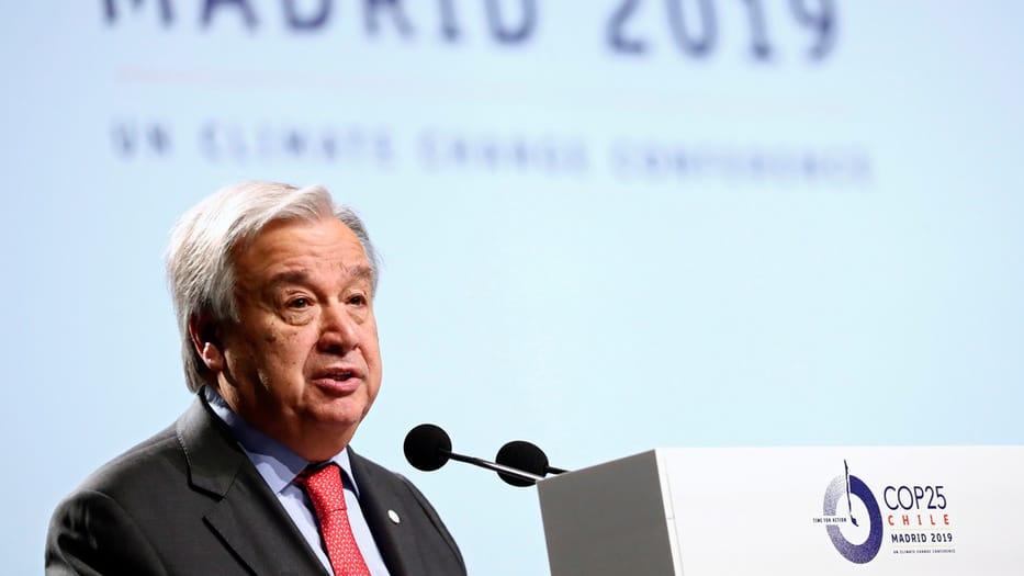 El secretario general de la ONU participó en la mesa redonda de la COP25