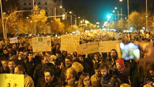 Manifestación por el clima en Madrid el pasado 6 de diciembre. Fridays for Future