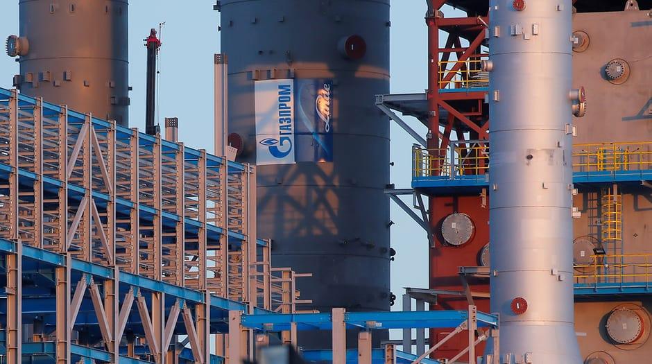 Columna de procesamiemto de gas de Gazprom/Foto referencial