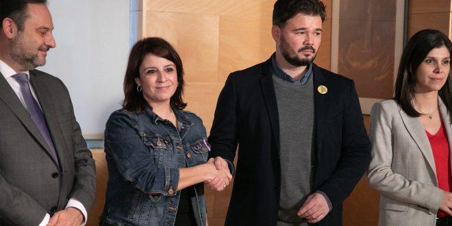 """PSOE y ERC anuncian """"avances"""" en la negociación para encauzar el conflicto político en Cataluña"""
