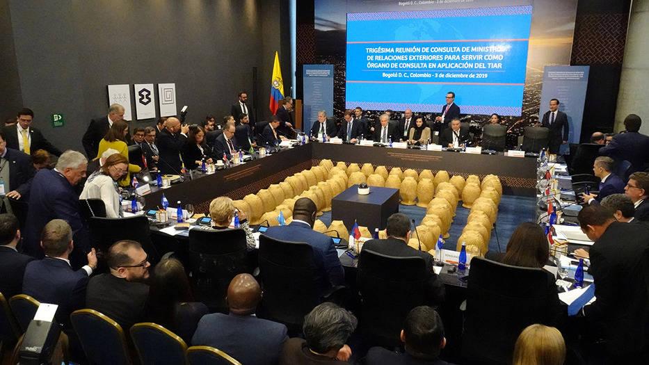 Ministros del TIAR decidieron activar el pacto contra la crisis venezolana, durante su reunión en Bogotá