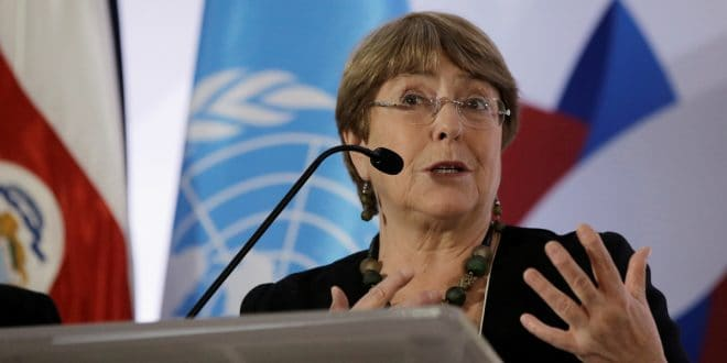 """Bachelet: """"La lucha por la justicia climática es la lucha por los derechos humanos"""""""