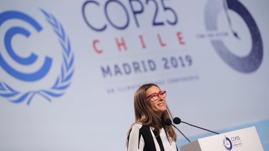 Carolina Schmidt, en la apertura de la COP 25 (Foto Archivo)