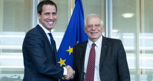 Juan Guaidó y Josep Borrell se reunieron en Bruselas