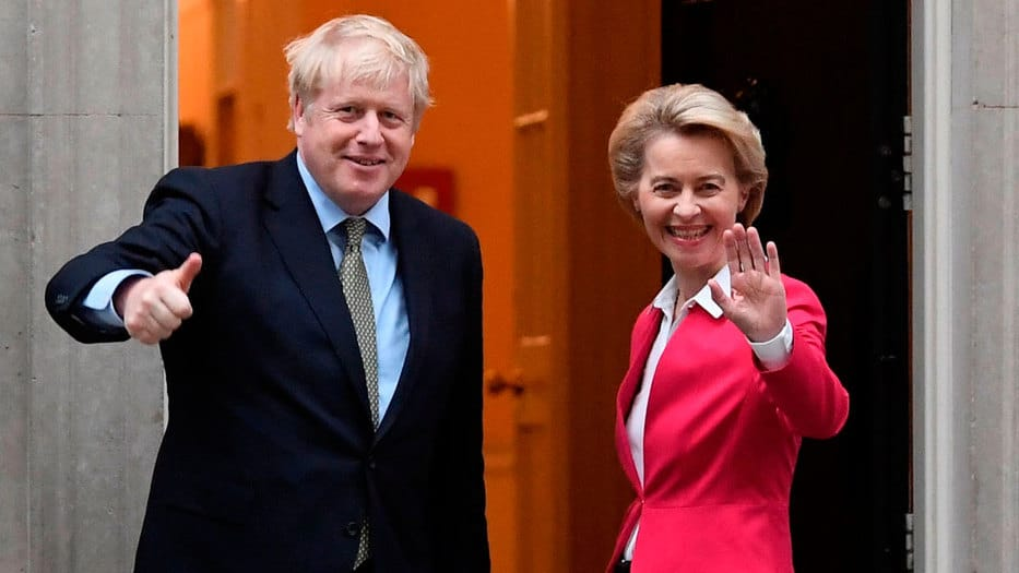 Johnson y von der Leyen se reunieron en Londres