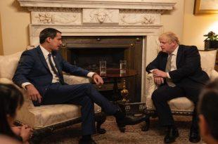 Juan Guaidó y Boris Johnson se reunieron para acordar soluciones para Venezuela