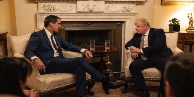 Juan Guaidó sostuvo encuentro con el primer ministro británico Boris Johnson