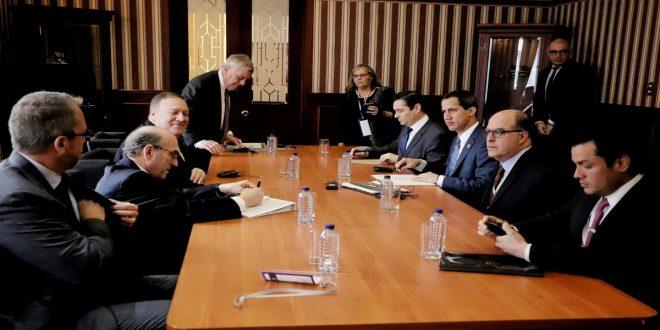 Guaidó y Pompeo acordaron sumar esfuerzos para acabar con el régimen de Maduro y el terrorismo