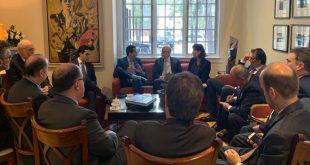 Juan Guaidó fue recibido por los embajadores del Grupo de Lima