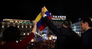 Venezolanos en Puerta del Sol