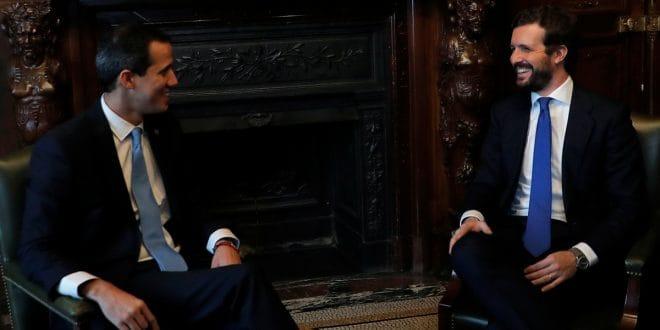 Guaidó se reunió con Casado, Arrimasdas y Abascal, pero no con Sánchez