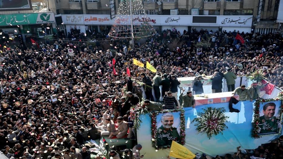 40 personas fallecidas y más de 200 lesionadas en funeral de Soleimani