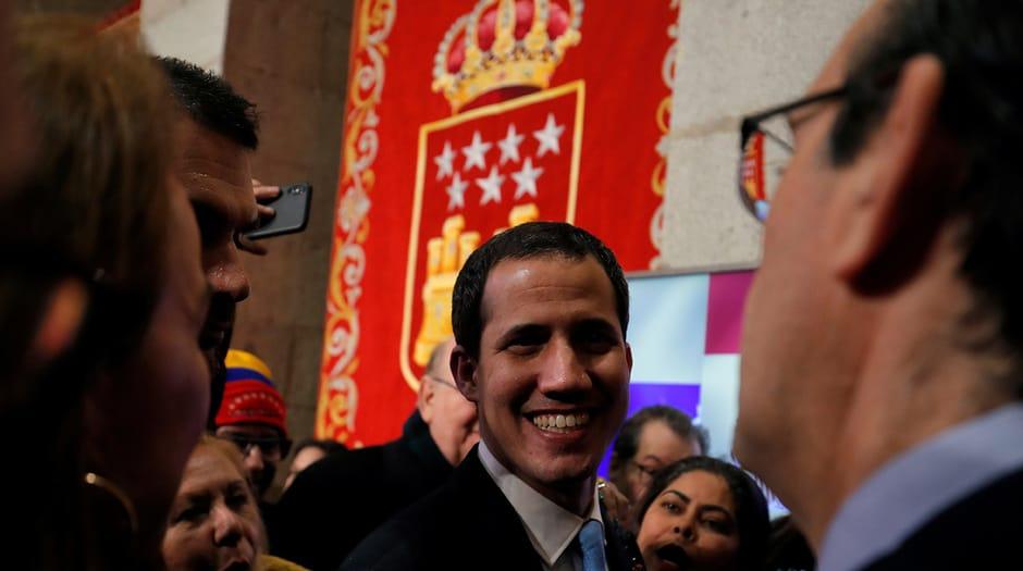 El presidente encargado de Venezuela, Juan Guaidó, compartió el sábado con las autoridades del gobierno de Madrid