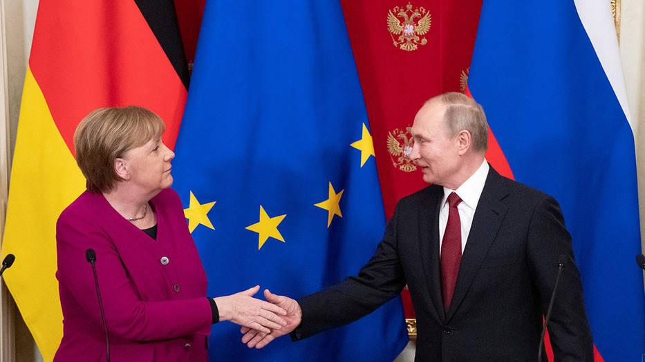 Merkel y Putin
