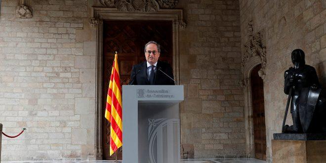 Quim Torra anunció elecciones anticipadas en Cataluña