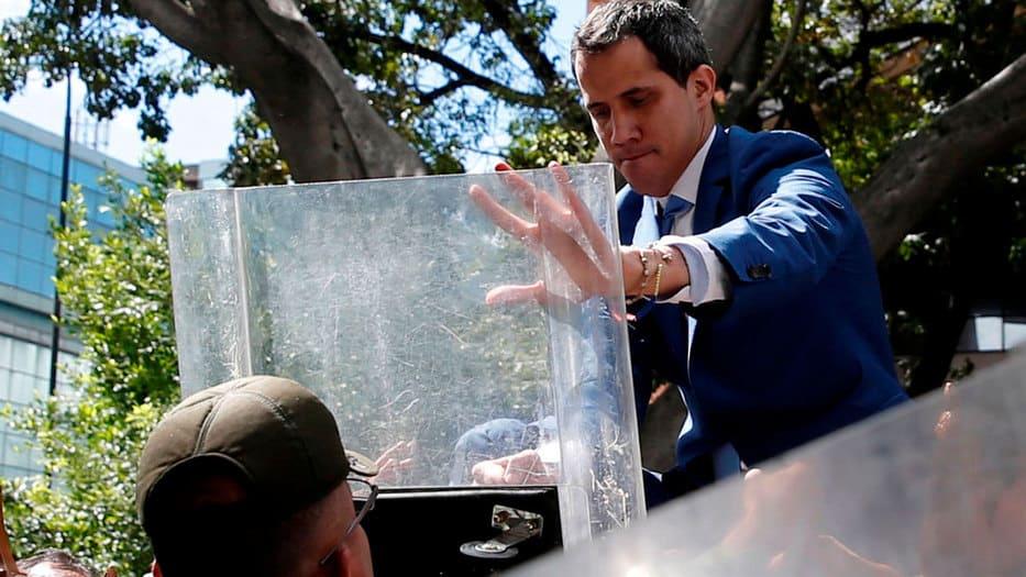 Fuerzas de seguridad impidieron la entrada de Guaidó a la Asamblea Nacional de Venezuela