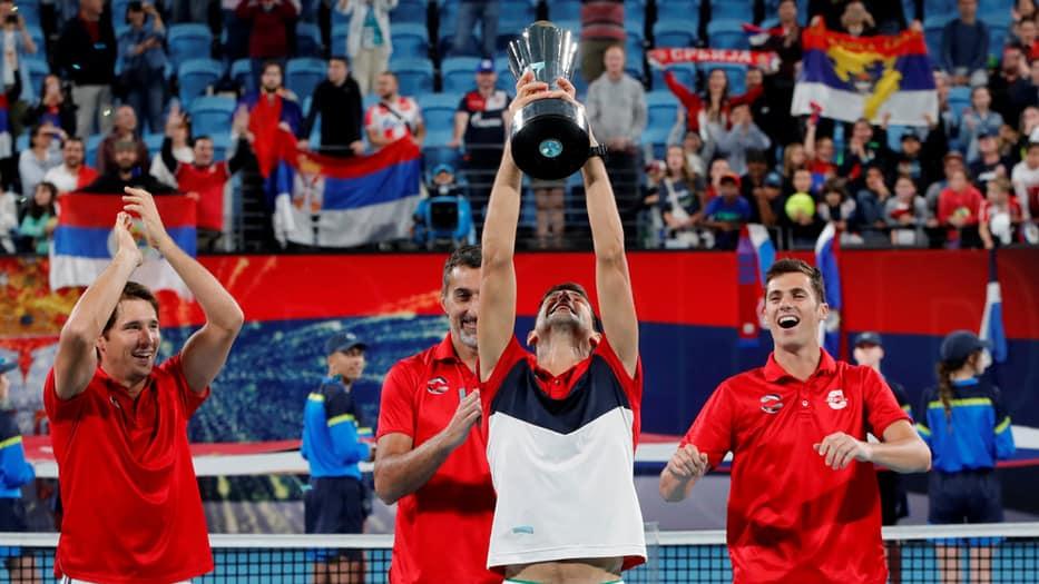 Novak Djokovic levanta la ATP Cup