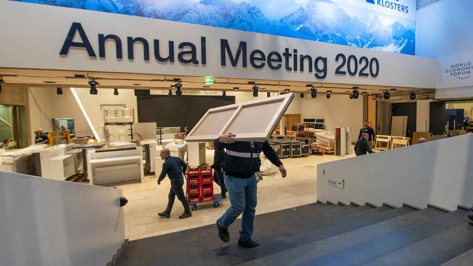 El Foro Económico Mundial en Davos alista últimos detalles para iniciar su reunión anual