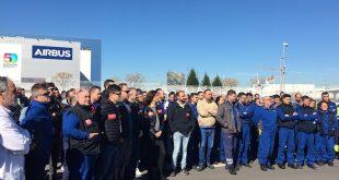 Trabajadores de Airbus se concentraron en Cádiz