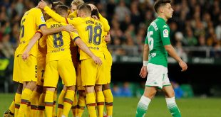 Messi hizo los pases que permitieron al Barça remontar