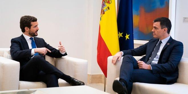 Sin avances concretos culminó reunión entre Sánchez y Casado