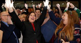 McDonald celebró el triunfo de Sinn Féin