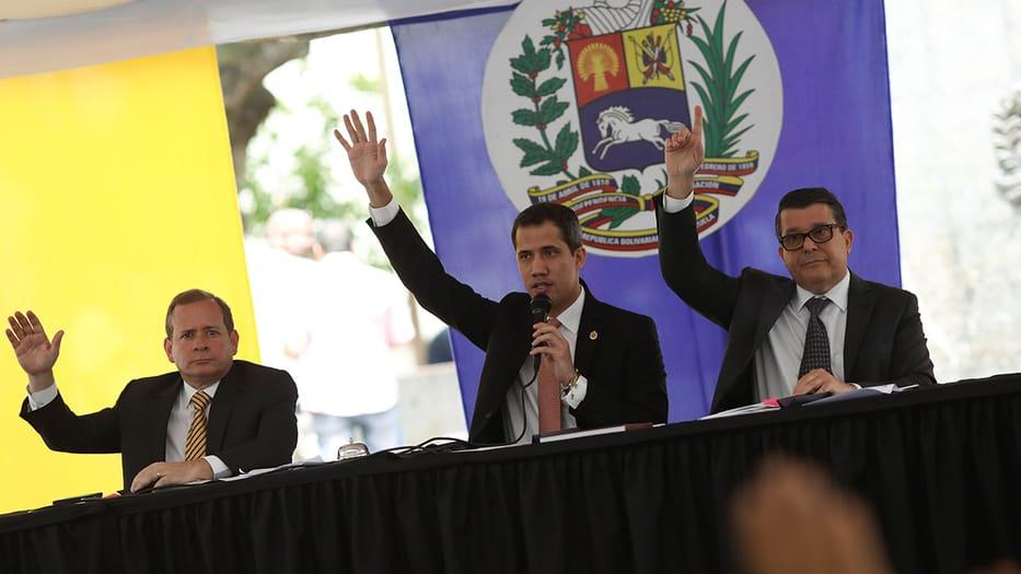 El presidente interino de Venezuela encabezó una nueva sesión del Parlamento