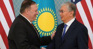 Mike Pompeo Kazajstán