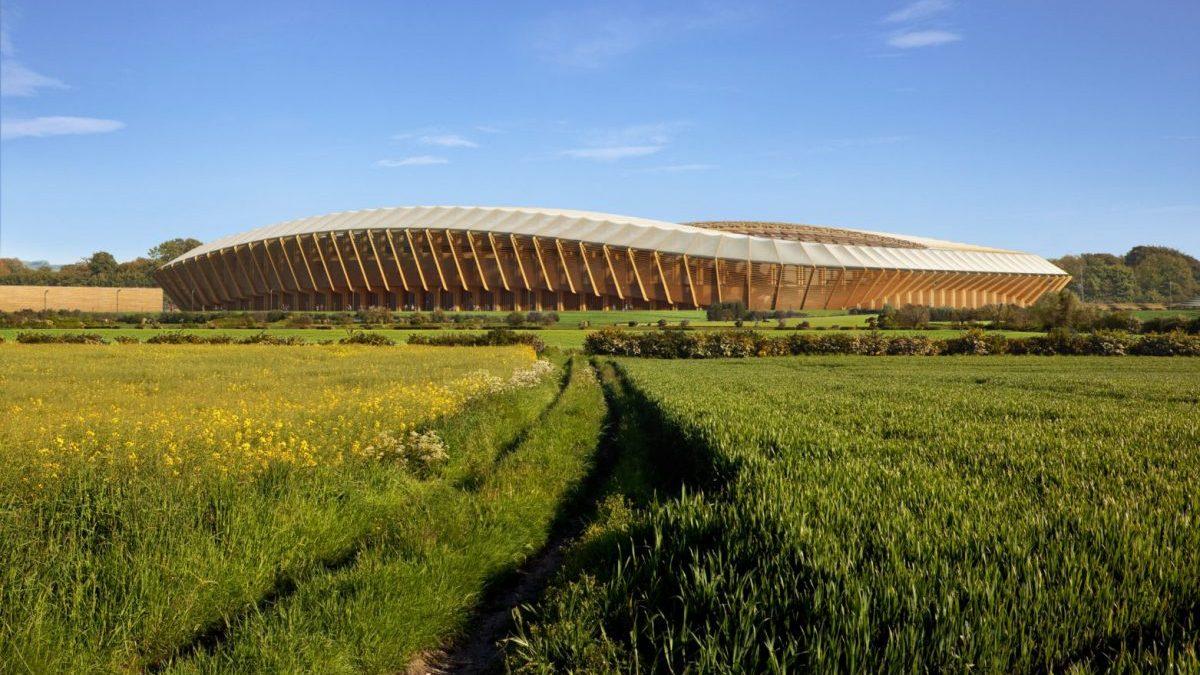 Primer estadio de madera del mundo