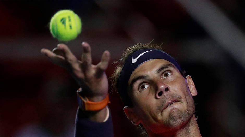 Rafael Nadal en Acapulco ya alzó el trofeo en dos ocasiones