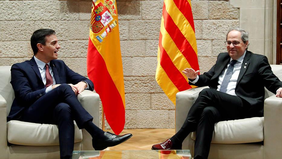 Reunión entre Sánchez y Torra