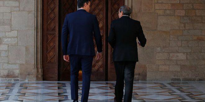 Oposición asegura que Sánchez dio la espalda a España en reunión con Torra