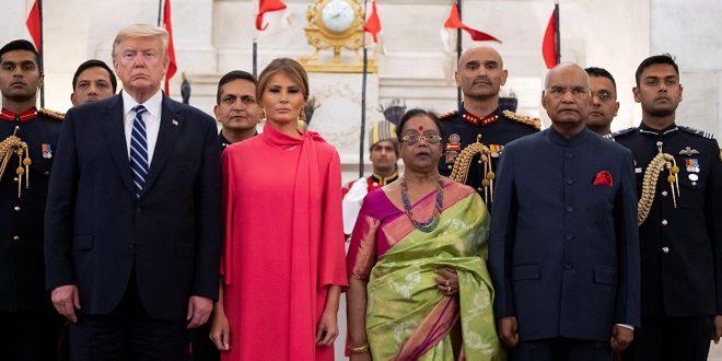 Trump finalizó visita a la India con mucho color y pocos acuerdos
