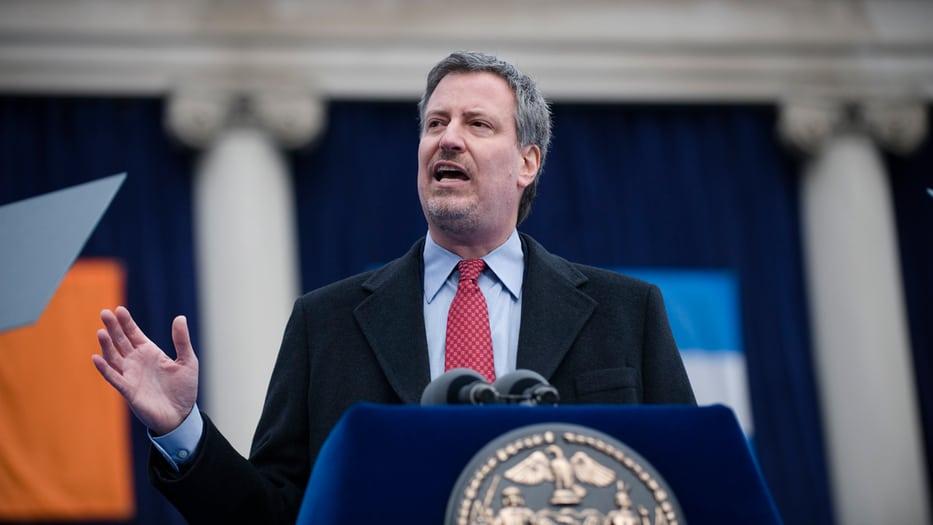 El alcalde de Nueva York, Bill De Blasio
