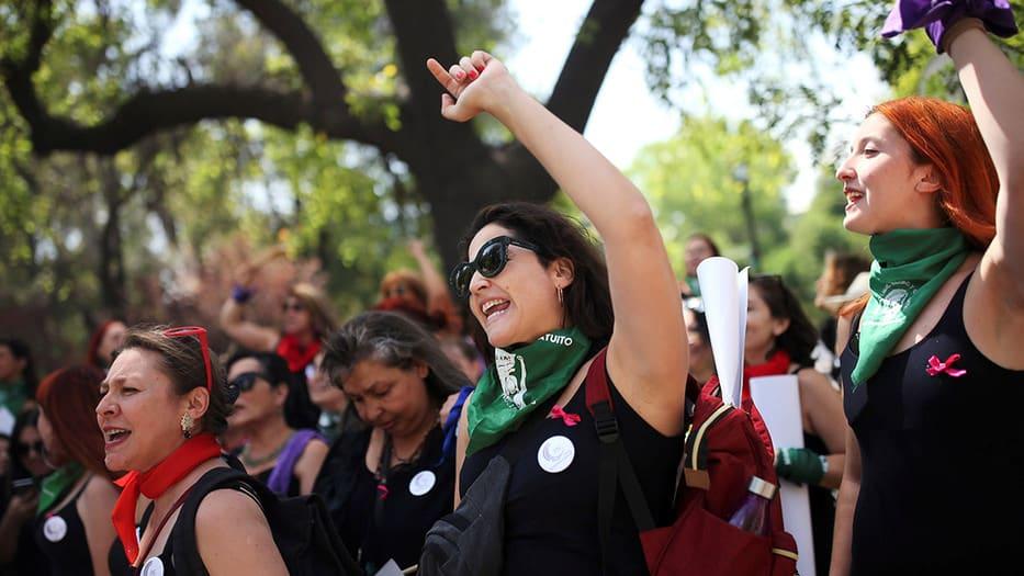 Más de 7.000 mujeres tomaron las calles de Madrid
