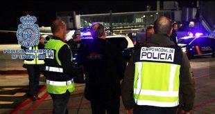 Agentes de la Policía Nacional custodiaron la extradición