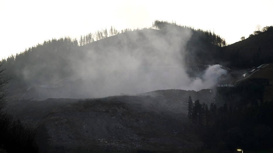 incendio en el vertedero de zaldibar
