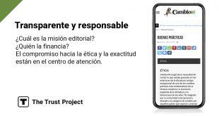 Cambio16 y The Trust Project en contra de la desinformación