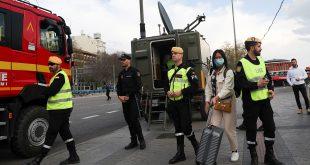 Efectivos militares han estado desplegados en puntos claves de muchas ciudades de España