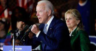 El exvicepresidente Joe Biden sorprendió al ganar en nueve de los 14 estados