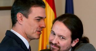 El presidente del Gobierno Pedro Sánchez y el vicepresidente Pablo Iglesias