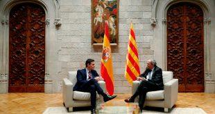 El presidente Pedro Sánchez y el president de la Generalitat, Quim Torra