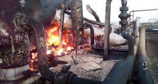 Explosión en planta de gas
